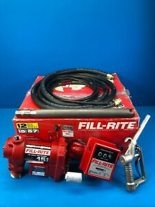 Fill rite Fr4211g High Flow 12 Volt Dc Fuel Transfer Pump With Meter Series 800c
