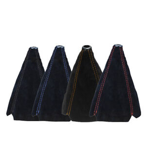 Suede Leather Manual Car Gear Stick Shift Knob Cover Boot Gaiter Cover Universal