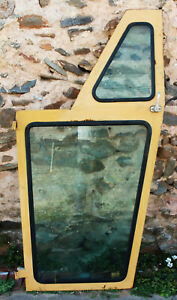 Caterpillar Tractor Loader Left Side Cab Door W Top Bottom Glass Window 65