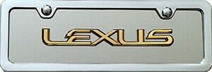 Lexus 3d Mini Novelty Plate Satin Brushed Stainless Steel Key Chain