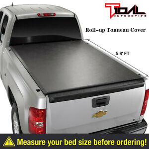 07 17 Chevy Silverado 1500 Sierra 1500 5 8 Short Bed Roll Up Tonneau Cover