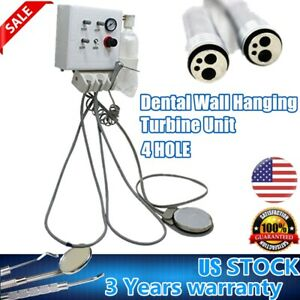 Portable Dental Turbine Unit Wall Mount Work With Air Compressor Triplex Syringe