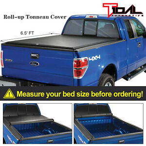 Tidal 6 5 Bed Short Truck Bed Roll Up Tonneau Cover For 04 14 Ford F150