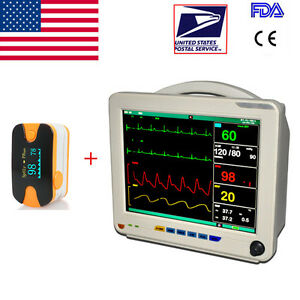 Portable Icu Ccu 6 parameters Medical Patient Monitor Arrhythmia Analysis Sale