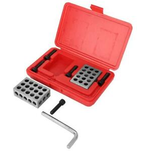 1 2 3 Block Durable Machinist Gauge Hole Blocks 23 Holes With Screws Wrench Case