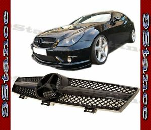 Fit 04 08 W219 Cls Sedan 4dr Model All Shiny Black Sg Front Replacement Grille
