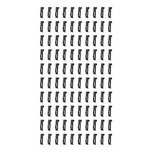 100 Pcs Gridwall Utility Hook Grid Wall Panel Display Picture Notch Black