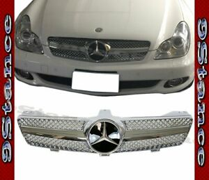 Fit 04 08 W219 Cls Sedan 4dr Model Bright Chrome Sch Front Replaced Grille Hood