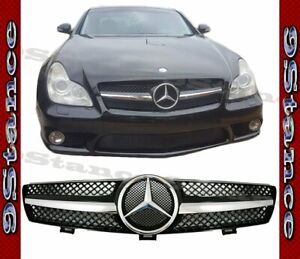 Fit 04 08 W219 Cls Sedan 4dr Model Chrome Black Scg Front Replaced Grille Hood