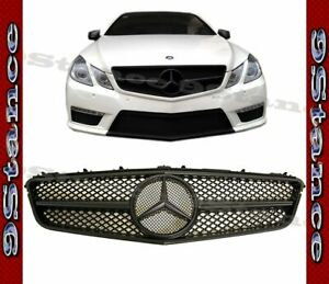 Fit 10 13 W207 C207 E Coupe Model Fully Smoke Matte Black Smb Front Hood Grille