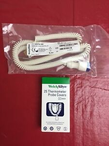 New 9 Ft Welch Allyn 02678 100 Oral Probe Assembly Suretemp Thermometer Covers