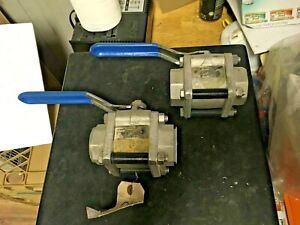 Mcf 1 1 2 Inch Forged Stainless Steel Ball Valves two 1000 Psig Socket Weld