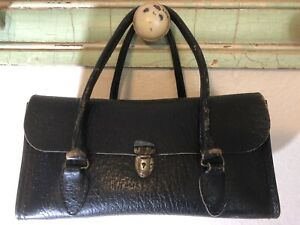 Vintage Schell Brand Cowhide Leather Physician Medical Bag Purse Satchel