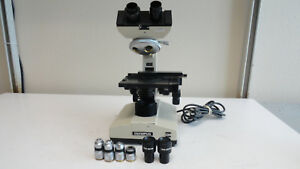 M3 Olympus Ch Microscope Chbs With 4 Objectives And 2 Eyepieces