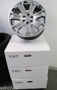 22 New Gmc Yukon Sierra Chevy Silverado Suburban Gray Chrome Wheels Rims 5660 4