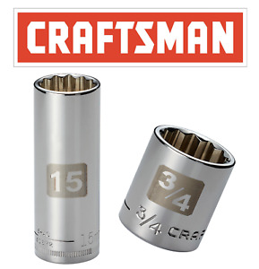 Craftsman Easy Read 12 Point Socket 1 2 Or 3 8 Drive Shallow Or Deep Mm Or Sae