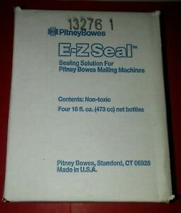 Pitney Bowes 601 0 E z Seal Solution Mailing Machines 4 New 16 Oz Bottles