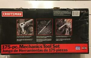 Nos Craftsman usa Made 175 Pc Plus Extra Sockets Mechanics Tool Set 9 34175