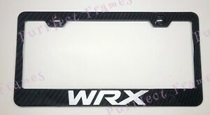 Wrx Subaru Outlander 100 Real 3k Twill Wreath Carbon Fiber License Plate Frame