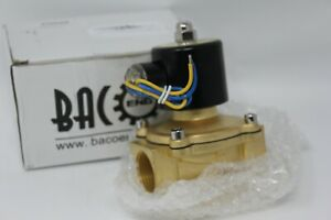 New Bacoeng 1 Dc12v Electric Solenoid Valve npt Brass Normally Closed