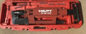 Hilti Dx 860 Hsn Powder Actuated Upright Nail Metal Roof Decking Deck Gun Nailer