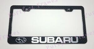 Subaru Wrx Outlander 100 Real 3k Twill Wreath Carbon Fiber License Plate Frame