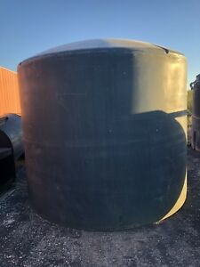 2500 Gallon Poly Tank With Domed Top And Flat Bottom