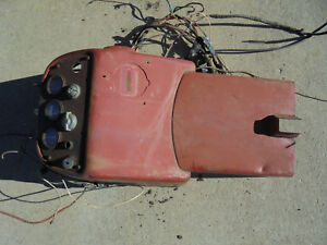 Vintage Antique Ford Ih International Farmall Tractor Instrument Cluster