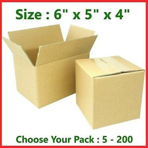 6x5x4 Cardboard Packing Mailing Gift Moving Shipping Boxes Corrugated Box Carton