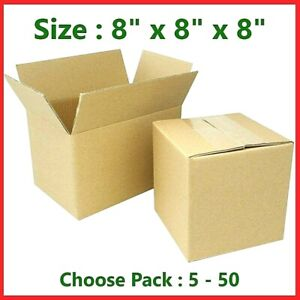 8x8x8 Cardboard Packing Mailing Gift Moving Shipping Boxes Corrugated Box Carton