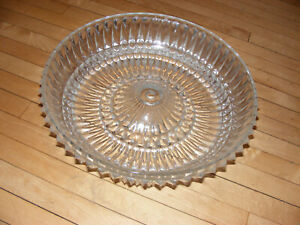 Vintage Cut Glass Art Deco Ceiling Light Fixture