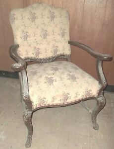 Antique Hand Carved Wood Arm Accent Chair French Country Pickup Only Maryland