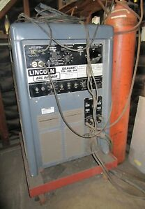 Slightly Used Lincoln Idealarc 300 300 Tig Ac dc Welder Cooling Tank Torch Leads