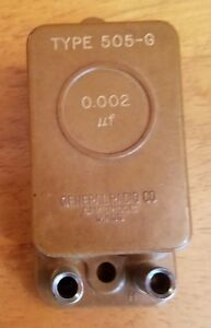 General Radio Co 0 002 f Type 505 g Standard Capacitor 194719 Cambridge 39 Mass