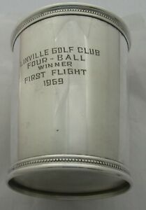 Mark Scearce Ky Sterling Silver Mint Julep Cup President Lyndon B Johnson
