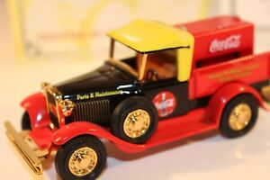 Matchbox Collectibles Coca-Cola 1930 Ford Model A Pickup Diecast Yesteryear COA