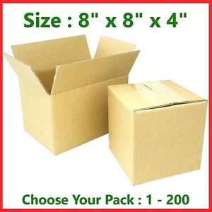 8x8x4 Cardboard Packing Mailing Gift Moving Shipping Boxes Corrugated Box Carton