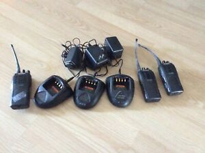 Hyt Tc 700 Two Way Radio 3 Charging Bases 2 Work 1 Parts Lot Industrial Scanner