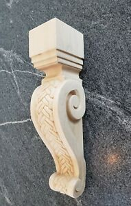 Large Maple Wood Corbel Bracket Ornamental Braid Pattern