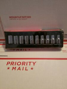 Snap On 310twmya 10 19mm 1 2 Drive 10pc Metric Shallow Socket Set New Unopened