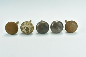 Antique Mixed Lot Of 32 Metal Door Knobs Sets Singles Hardware Shabby 06949