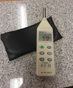Center 320 Sound Level Meter 30db 130 Db Used With Case