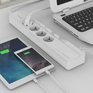 Eu Surge Protector Power Strip With 5 Usb 4 Ac Socket Multi outlet For Orico