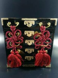 Wooden Chest Of Drawers Maniature Hina Doll Tansu Japenese Vtg