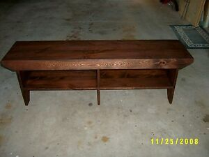 60 Wooden Bench With Extra Leg In The Middle