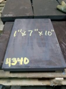 4340 Alloy Steel Plate 1 X 7 X 10 Machine Stock