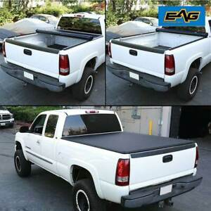 Eag 6 5ft 78 Short Bed Roll up Tonneau Cover Black Fits 07 15 Toyota Tundra