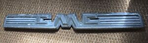 1958 1959 Gmc Truck Pickup Hood Emblem Ornament Badge Trim Part 2374613 Nice