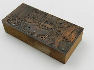 Deer Hunter Advertising Printing Press Block Winchester Rifle Ammo 6499