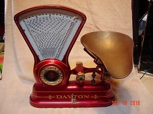 Antique 1906 Dayton Computing Scale Co Mod 166 Candy 4lb Scale Beautiful Piece